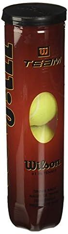 Wilson WRT111900 Team W Lot de 4 balles de tennis spécial entraînement Jaune