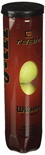 Wilson WRT111900 Palline da Tennis Team W Practice, Tubo con 4 Palline, Giallo