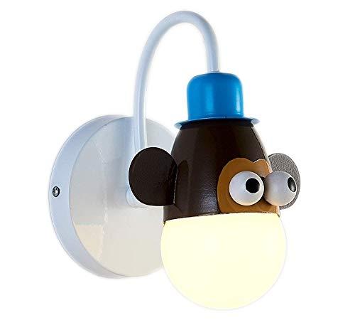 7 Watt-tier-licht (Moderne LED Kinder Wandlampe Nachttischlampe Kreative Cartoon Kinderzimmer Lampe Kindergarten Tier Kinder Licht Lampe, Einfache Junge Mädchen Schlafzimmer Beleuchtung AC220V (Größe : Monkey))