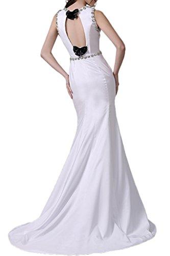 Gorgeous Bride Fashion Rundkragen Meerjungfrau Lang Satin Schleppe Brautjungfernkleid Cocktailkleid Partykleid Wassermelone