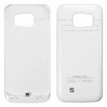 4200mAh External Backup Battery Power Bank Case For Samsung Galaxy S6 Edge-White