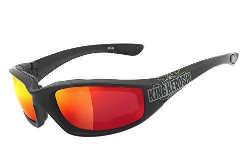 King Kerosin KK140 Sonnenbrille Schwarz/Matt Rot