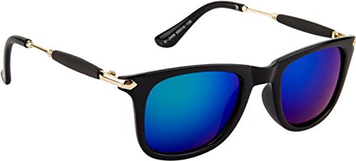Xforia Men\'s Blue Mercury Sqaure Wayfarer Sunglasses