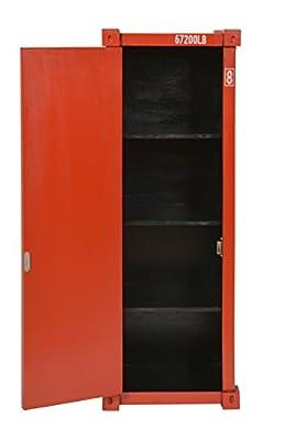 ts-ideen Retrolook CD DVD Schrank Regal Aufbewahrung Retro Design Container rot 88 x 32 cm