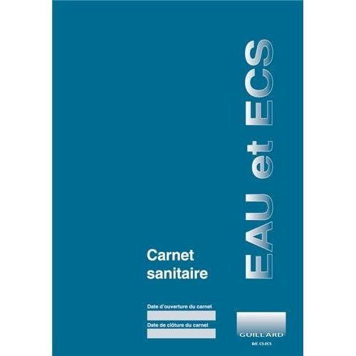Carnet sanitaire Eau et ECS