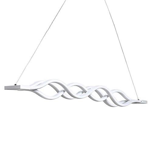 Aluminium-wärme-lampe (KJLARS LED Pendelleuchte esstisch Hängelampe Wohnzimmer Küche LED-Pendellampe Moderne Aluminium Hängeleuchte mit 3 Wellen, höhenverstellbar, Pendellänge maximum 120cm (Dimmbar))