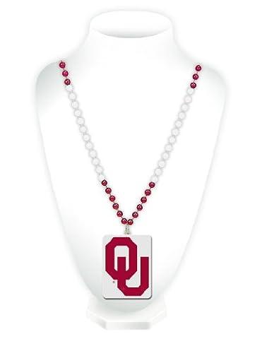 NCAA Oklahoma Sooners Beads with Logo Medallion
