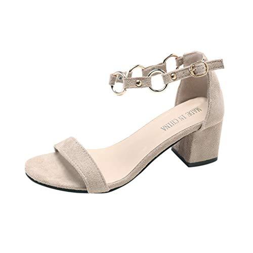 Moda Mid Heel Heels - Darringls Damen Sandalen, Mode Sommer Casual