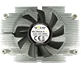 Gelid Solutions CPU Cooler AM2 Quiet 75 mm Fan Easy Secure Fastening Low Height Mini ITX micro ATC HTPC 1U Rack
