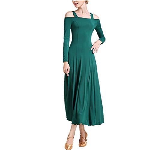 Business Kostüm Tanz Frau - Frau Tanzendes Kleid Kurze Ärmel - Sommer Party Standard Ballsaalanzug Walzer Schule Mannschaft Lateinischer Tanz Rock XL