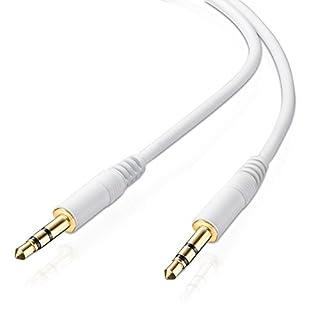 adaptare 10023 Audiokabel 3,5mm Klinkenstecker auf 3,5mm Klinkenstecker, vergoldete Kontakte, ultraslim, 0,3m, weiß