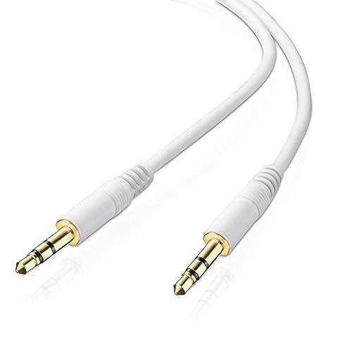 adaptare AD-10024 Stereo (AUX) Verbindungskabel Klinkenstecker (3,5mm) auf Klinkenstecker (3,5mm), vergoldet, ultra slim, 1,00 m,