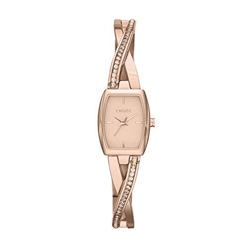 DKNY  NY2238 - Reloj de cuarzo con correa de acero inoxidable para mujer, color rosa