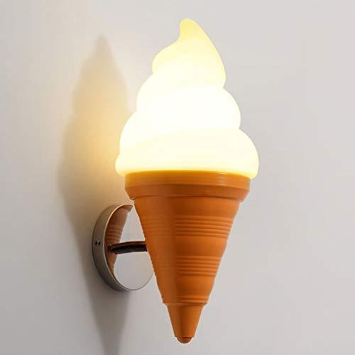 7 Watt LED Wandleuchte EIS Wandleuchte Tea Shop Dekoration Beleuchtung Kreative Süße Röhre Persönlichkeit Kinderzimmer Kindergarten Club Restaurant Schlafzimmer Wandleuchte (Color : Warmes Licht)