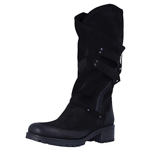 BABOOS 10.40 120 Damen Stiefel Schwarz Übergrößen, Größe:42 EU