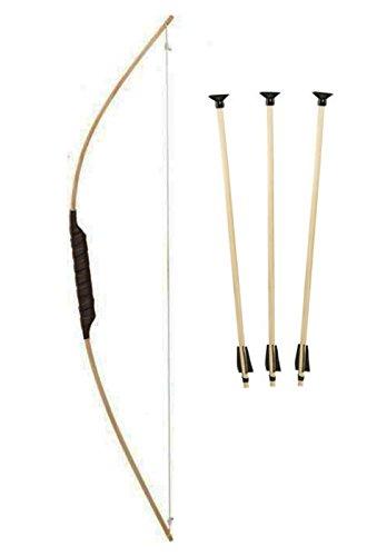 Bogen und Pfeile aus Holz - 80cm lang (Der Robin Hood Pfeil Und Bogen Kostüm Zubehör)