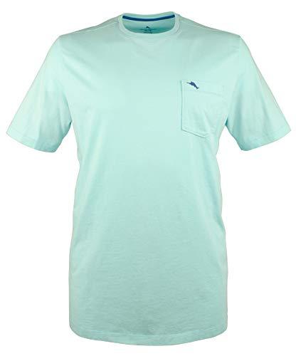 Tommy Bahama Herren T-Shirt Big & Tall Rundhalsausschnitt Fronttasche Kurzarm T-Shirt UV-Schutz - blau - XXL Hoch -