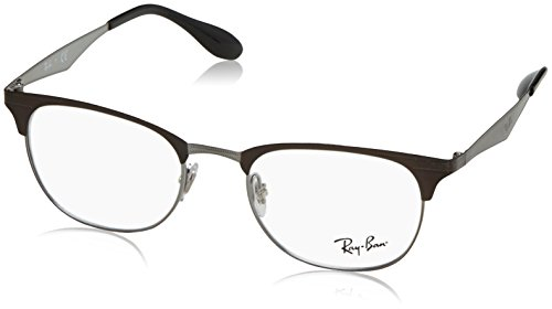 Rayban Unisex-Erwachsene Brillengestell RX6346, Braun (Top Brushed Dark Brown On Gunm), 52