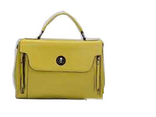 PACK Borse In Pelle Cera Borse Da Moda Borse High-end Abbigliamento Generoso Lussuoso Grande Capacità Confortevole Compact,A:Yellow B:Green