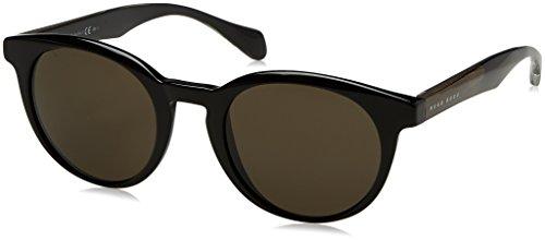 Hugo Boss 0912/S NR 1YS, Gafas de Sol Unisex-Adulto, Negro (Black Cryblck/BRW Grey), 50