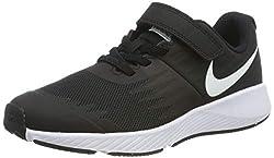 Nike Jungen Star Runner (PSV) Laufschuhe, Schwarz (Black/White-Volt 001), 29.5 EU