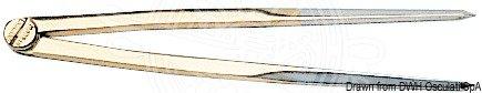 Osculati 26.141.61 - compasso ottone 177 mm lungo
