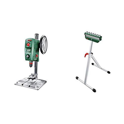 Bosch PBD 40 - Taladro de columna (710 W, caja de cartón) + Bosch 0.603.B05.100 Mesa de trabajo para ingletadoras, Verde, Acero Inoxidable, 700-1150 mm