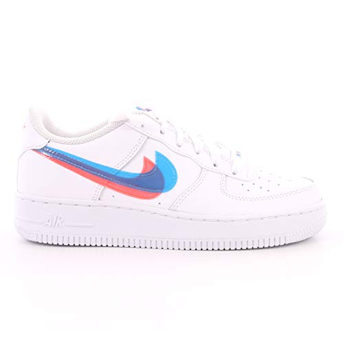 Nike Jungen AIR Force 1 LV8 KSA (GS) Basketballschuhe, Mehrfarbig (White/Blue Hero-Bright Crimson 100), 39 EU