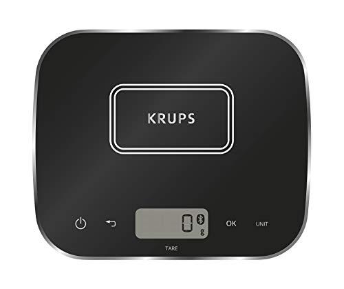 Krups XF5548 Prep&Cook Küchenwaage (Bluetooth, kompatibel mit Prep&Cook und Cook4Me App, automatische Einheitenumrechnung) schwarz
