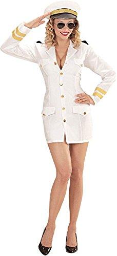 Widmann wdm06863–Kostüm Kapitän von Marina Damen, Weiß, -