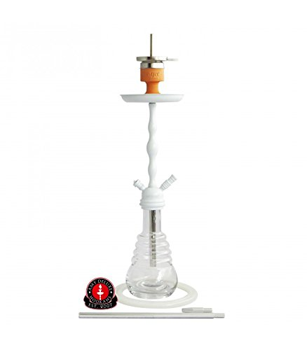 Amy Deluxe Shisha Glorious 630 Click Weiß-Transparent