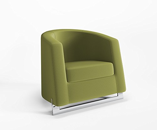Ruhesessel Noble C Clubsessel Relaxsessel Polster Schurwolle Main Line Flax, Farbe :MLF30 - Grün...