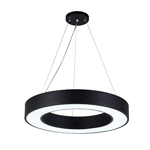 Led Ring Office Hanging Line Lights Creative Persönlichkeit Hollow Round Chandelier Gym Clothing Store Internet Cafes -