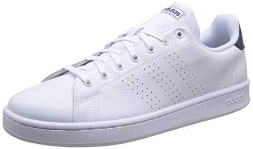 adidas Herren Advantage Tennisschuhe, Mehrfarbig (Ftwbla/Ftwbla/Azuosc 000), 42 2/3 - Vs Advantage Tennis Adidas