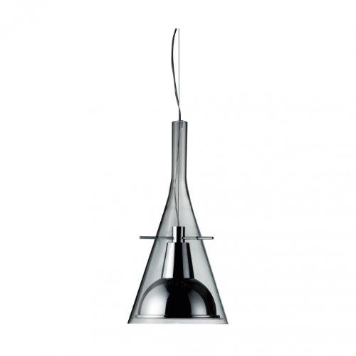 Flute 1 Magnum Pendelleuchte, chrom Aluminium Glas ØxH 31x63cm -
