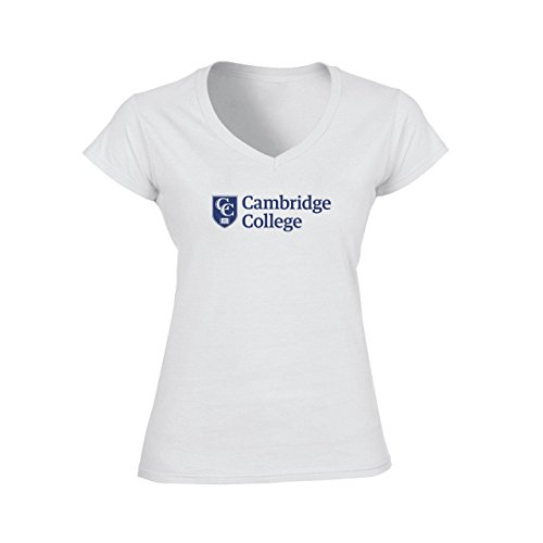 Cambridge Art Association Logo Damen V-Neck T-Shirt Weiß