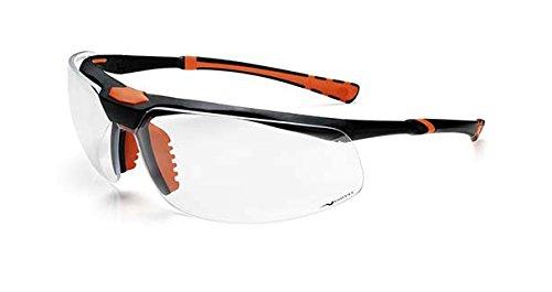 Univet 5 3 x High-Tech-Brille mit transparenten Gläsern