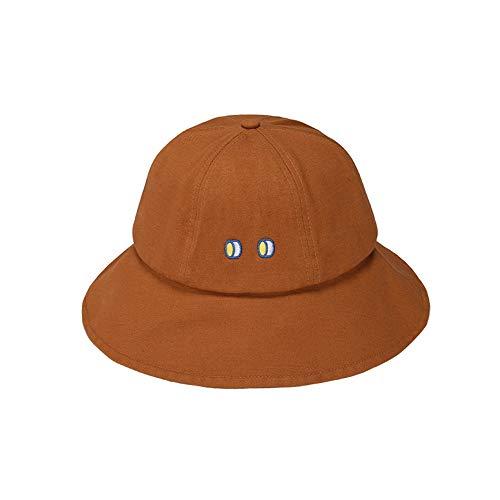 NKSS Augen Fischer Hut weiblich süß japanische Sonnenhut kleine frische Sonnenhut Sommer süß Sonnenhut Kuppel Becken Hut Mode Joker lässig Hut Wandern Hut Angeln Mütze (Color : Braun)
