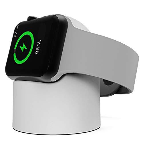 Cywulin Ladestation für Apple Watch Serie 4, Serie 3, Serie 2, Serie 1, Kompakte Ladestation, tragbar, kompatibel mit iWatch 44 mm, 42 mm, 40 mm, 38 mm Weiß weiß 42mm/44mm Apple-pda