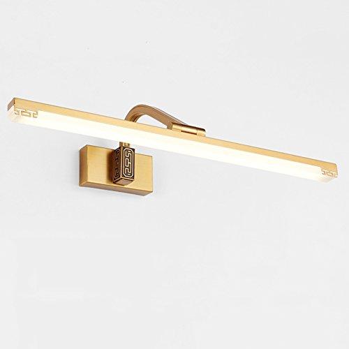 XUERUI Lampe De LED, 16W-30W Lumières Blanches Chaudes De Salle De Bains, Conducteur D'EMC, 38-72CM X 7CM X 4.5cm, Énergie Savin (Couleur : Brass, taille : 72cm)