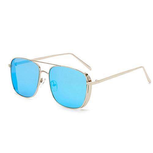 Polarisierte Sonnenbrille mit UV-Schutz Retro Punk Style Sonnenbrillen für Frauen Männer Metallrahmen umrandeten Sonnenbrillen Platz klassische Unisex-Sonnenbrille UV-Schutz Sonnenbrille Fahren Sonnen