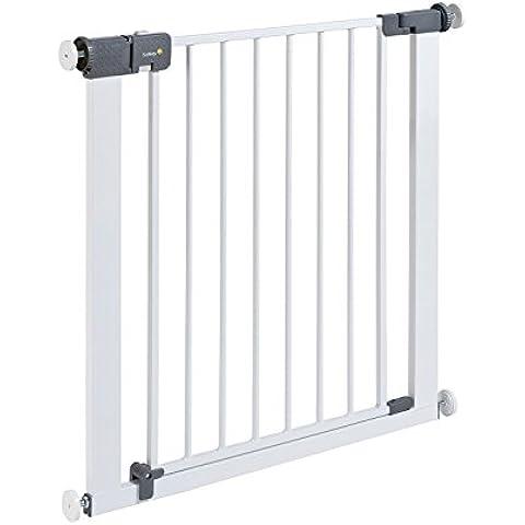 Safety 1st quick Close St rejilla para escaleras, extra seguro Reja de Protección de metal para pinzas, color blanco, 73–80cm, posibilidad de la extensión hasta 136cm extensible (a partir de 6–24Meses)