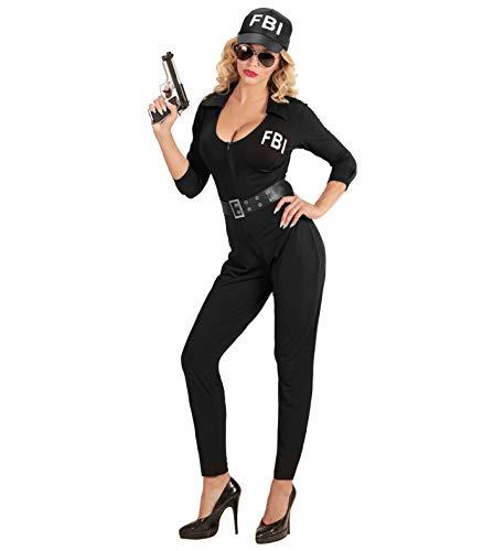 GYD FBI Polizei-Kostüm für Frauen FBI AGENTIN (Overall, Gürtel, Kappe) Größe ()