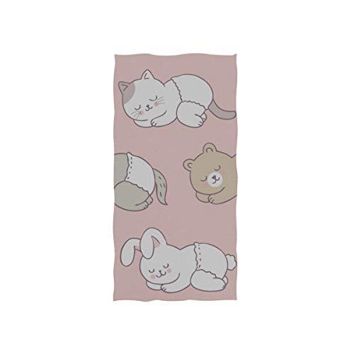 Enhusk Kawaii Nette Baby Tier Weiche Spa Strand Badetuch Fingertip Handtuch Waschlappen Für Baby Erwachsene Bad Strand Dusche Wrap Hotel Travel Gym Sport 30x15 Zoll - Bars Fitnessstudio Billig