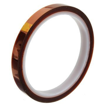 High Temperature Resistant Polyimide Tape for Sublimation 3D Printer (10mm x 33 Metres)  available at amazon for Rs.150