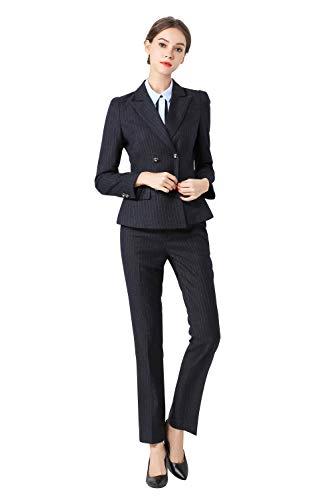 942d1f2505d3 Rojeam Donna Elegante Tailleur Pantalone Tailleur Gonna Classico per  Ufficio Donna Giacca Camicia per Primavera Autunno