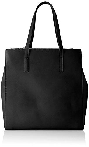 PIECES Damen Pcmiriam Shopper Schultertasche, 11x36x37 cm Schwarz (Black)