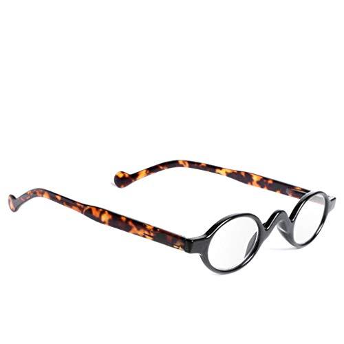 Chaunce Gute Qualität Retro Mini Klein Runder Rahmen Lesebrille Reading Glasses Presbyopie Brille für Herren Damen Dioptrie +1.0 ~ + 4.0
