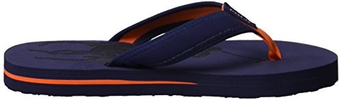 Ralph Lauren Geo, Tongs Blau (Navy Nubuck - Orange)