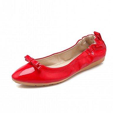 Wuyulunbi@ Scarpe Donna Primavera Autunno Comfort Novità luce Appartamenti suole piatte rotonde Bowknot di punta per abbigliamento casual Rosso Nero Beige US8.5 / EU39 / UK6.5 / CN40